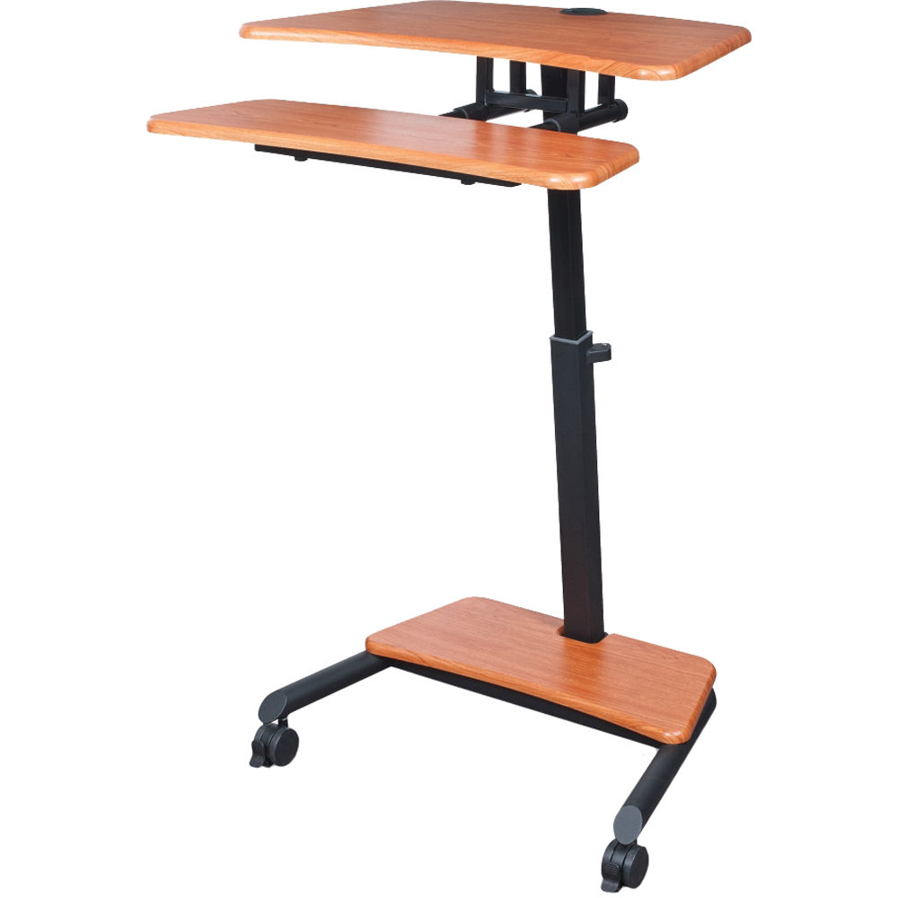 balt up rite mobile workstation with adjustable sit stand 90459 rh bhphotovideo com adjustable height cycling trainer desk/portable standing desk workstation north bayou sit stand desk height adjustable standing desk workstation
