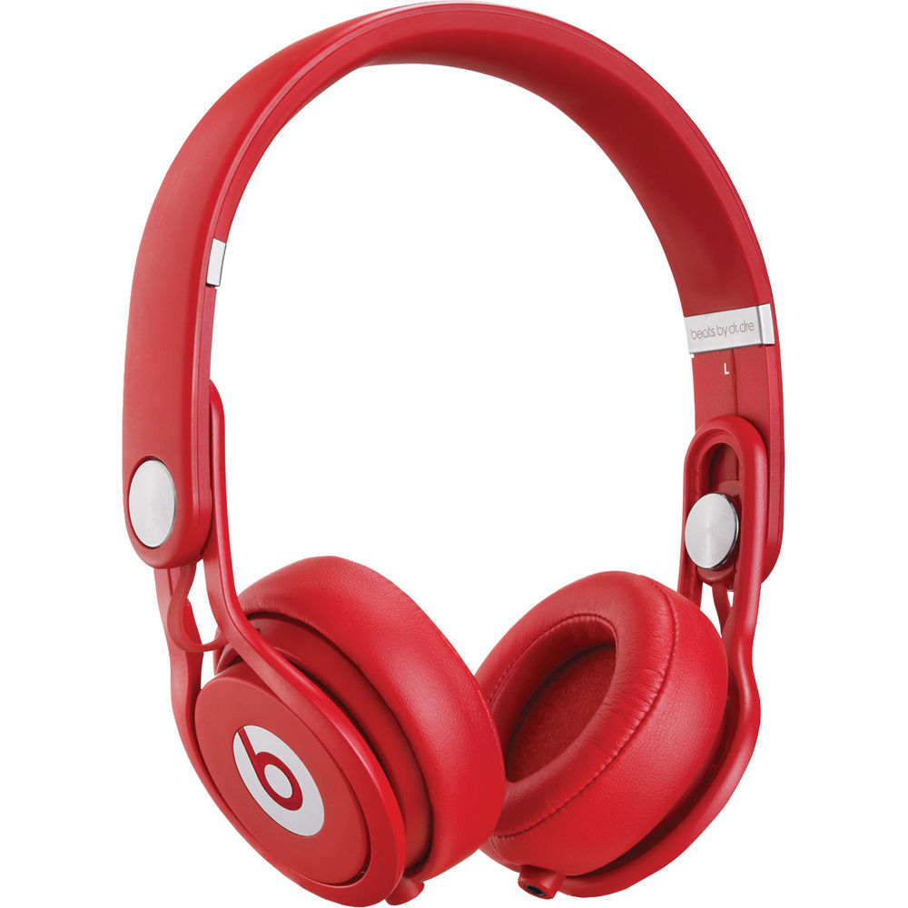beats by dr dre mixr lightweight dj headphones red. Black Bedroom Furniture Sets. Home Design Ideas
