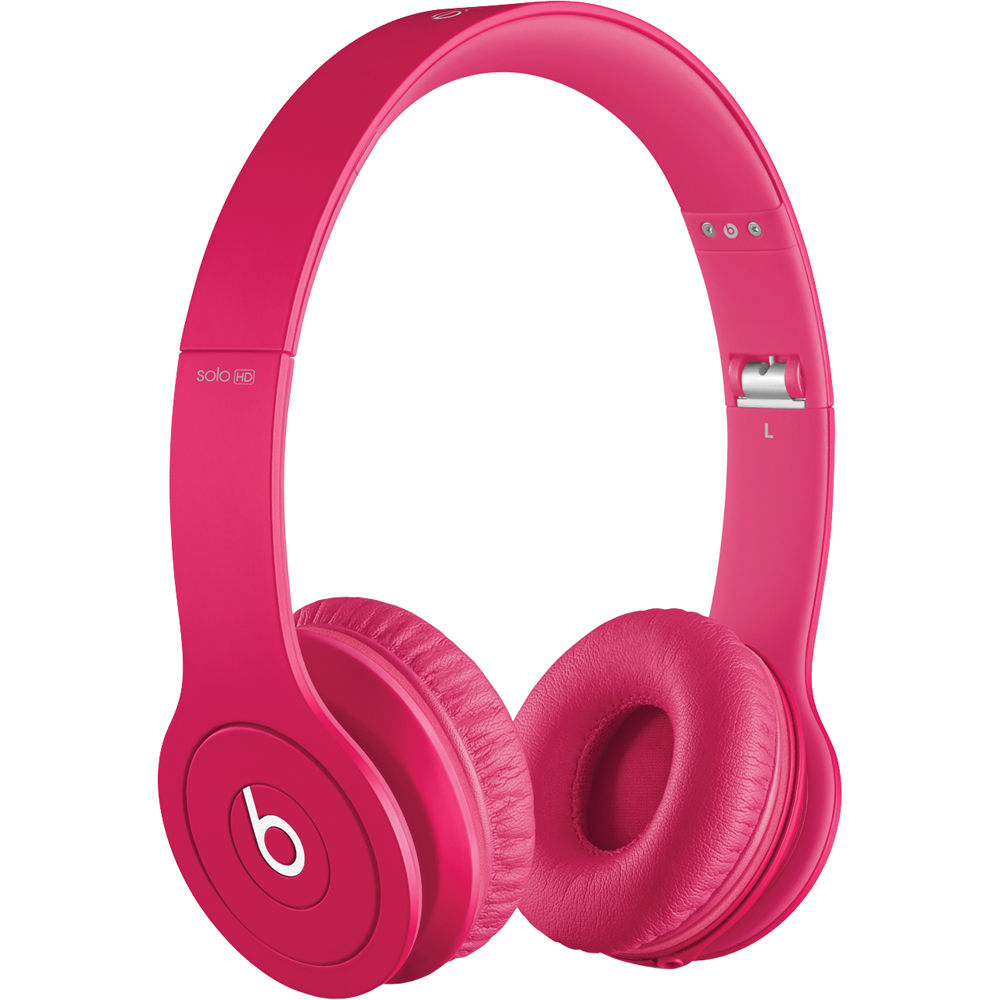 Bluetooth headphones beats on ear - Beats Solo HD (Pink) Overview
