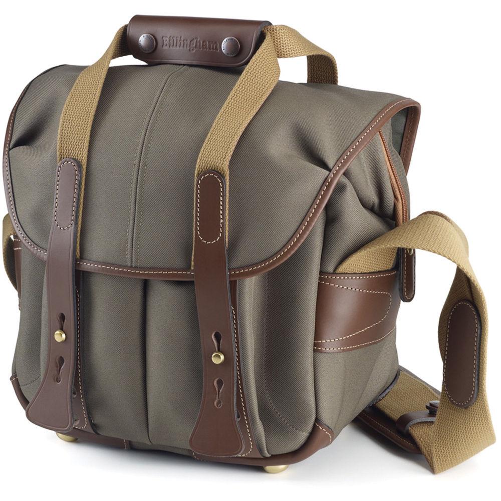 Billingham 107 Camera Bag Sage With Chocolate Leather