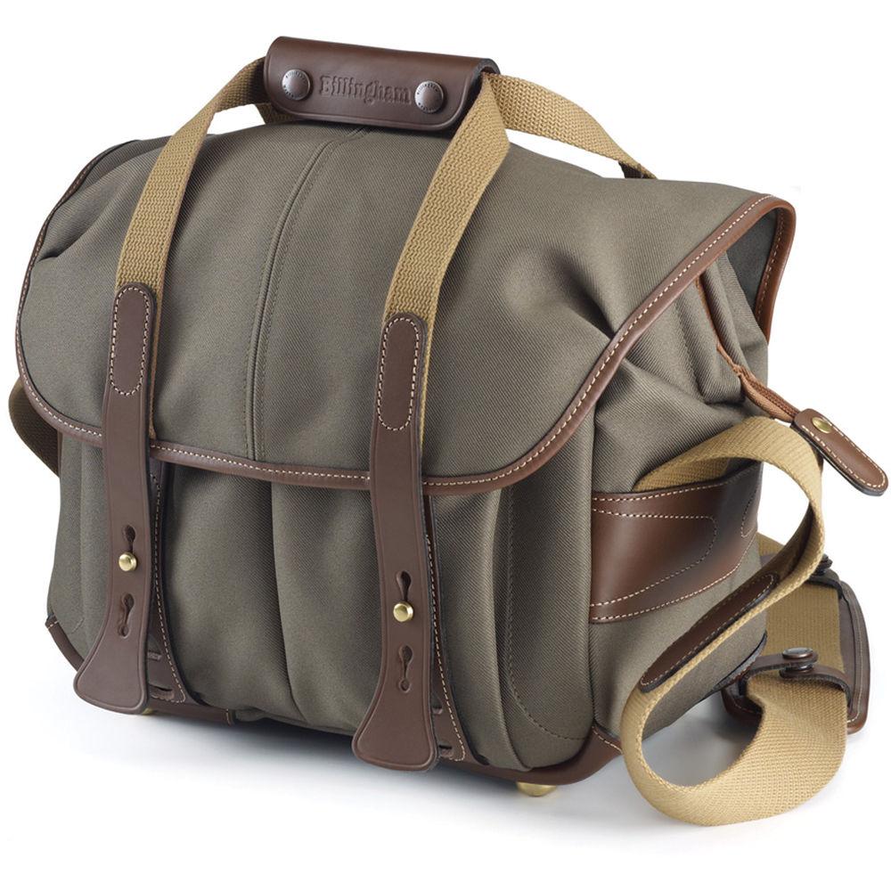 Billingham 207 Camera Bag Sage With Chocolate Leather