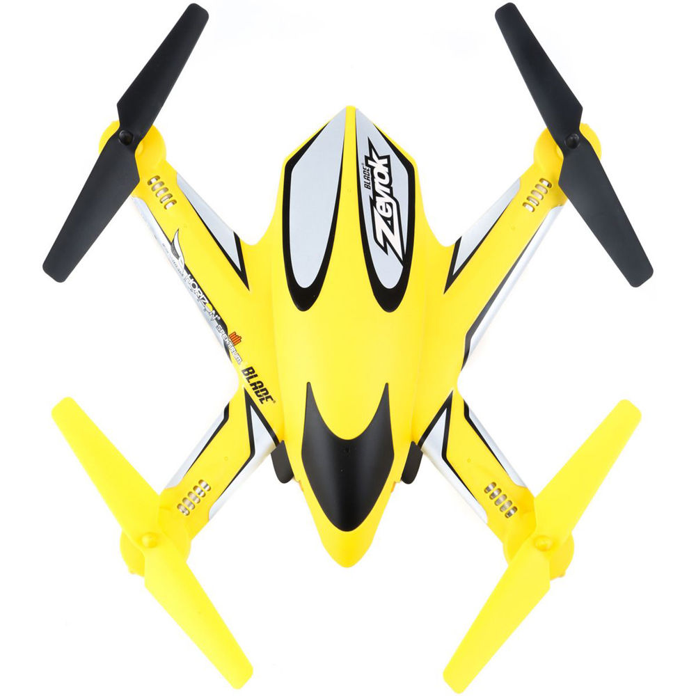 Blade Zeyrok Quadcopter Bnf Yellow Blh7380t1 Bh Photo Video Lipo Offers 10 Minute Flight Time Depending On The Modes
