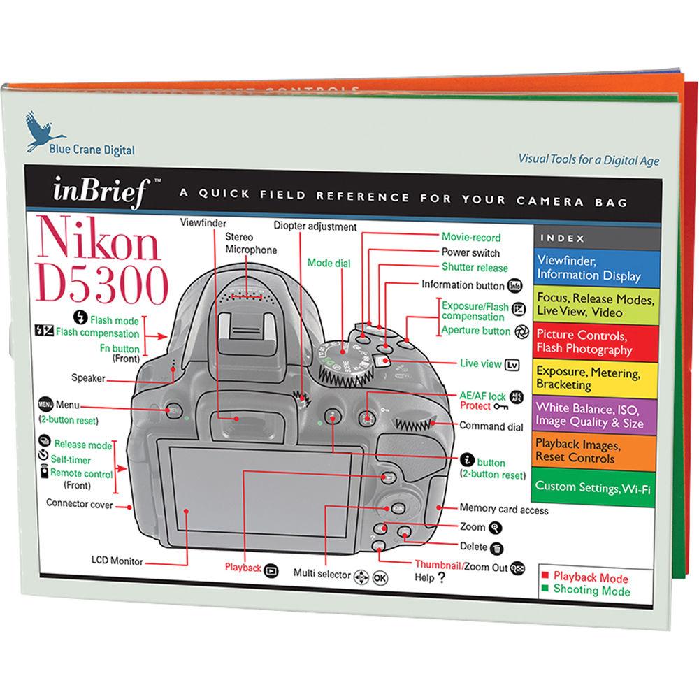 blue crane digital nikon d5300 inbrief laminated card a bc558 rh bhphotovideo com nikon d5300 manual pdf nikon d5300 manual pdf