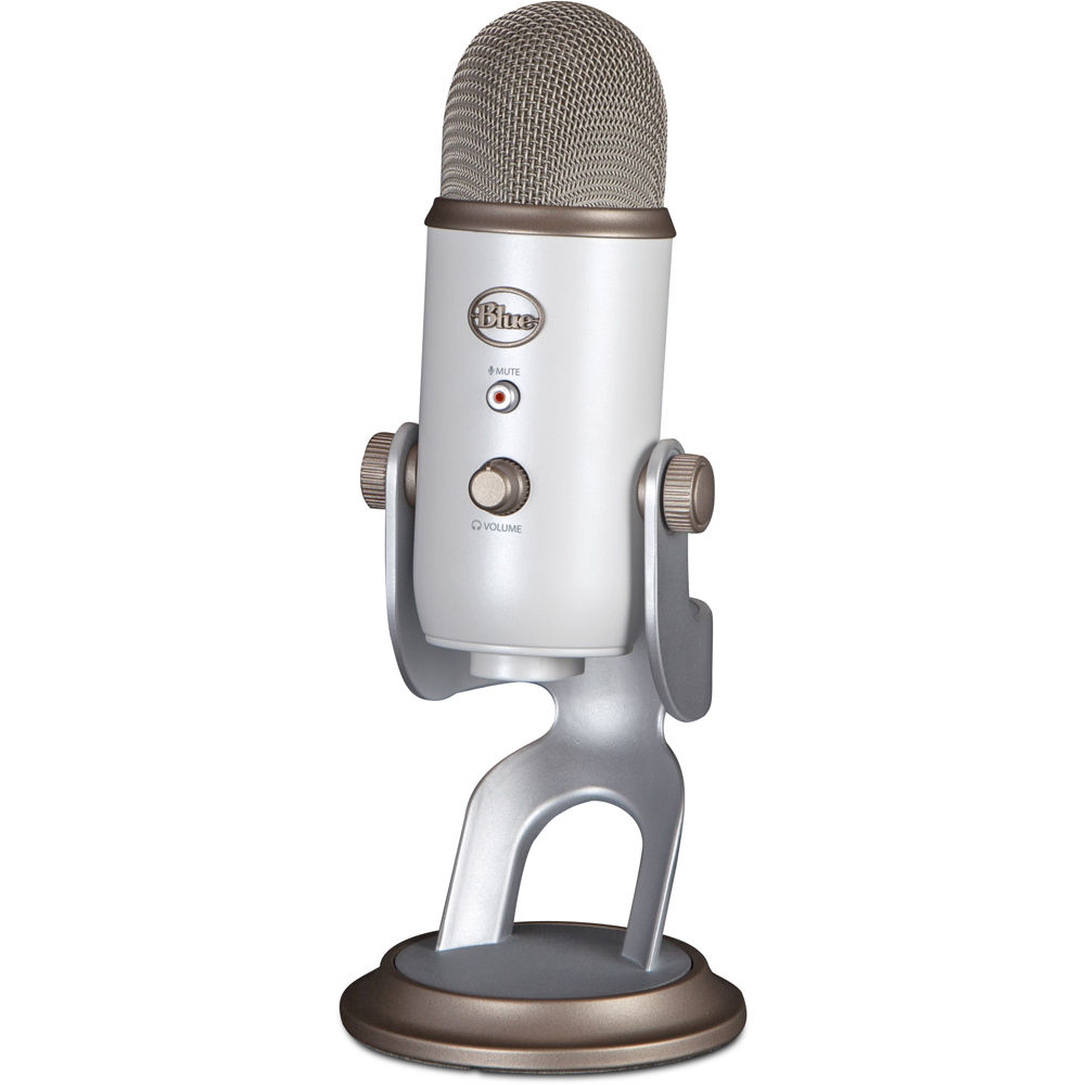 Silver Yeti USB Microphone with sidebar thumbnail