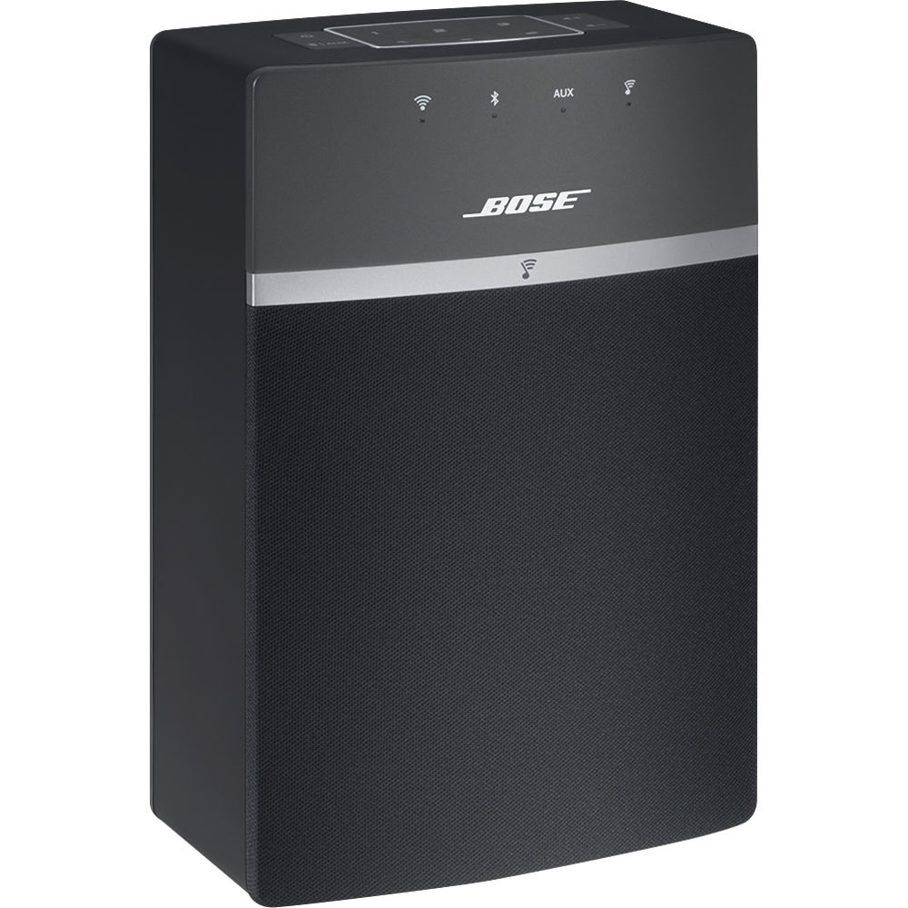 bose soundtouch 10 wireless music system black 731396. Black Bedroom Furniture Sets. Home Design Ideas