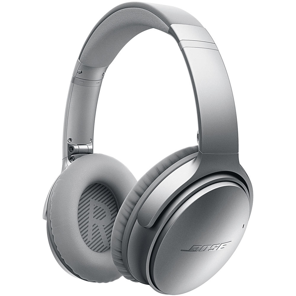 bose noise cancelling headphones 35. bose quietcomfort 35 wireless noise cancelling headphones (silver) s