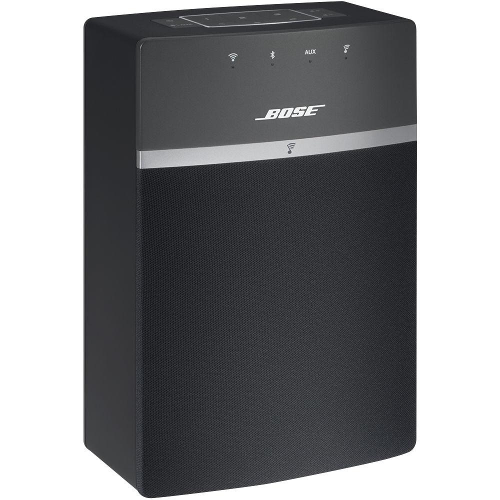 bose soundtouch 10 x 2 wireless starter pack black. Black Bedroom Furniture Sets. Home Design Ideas