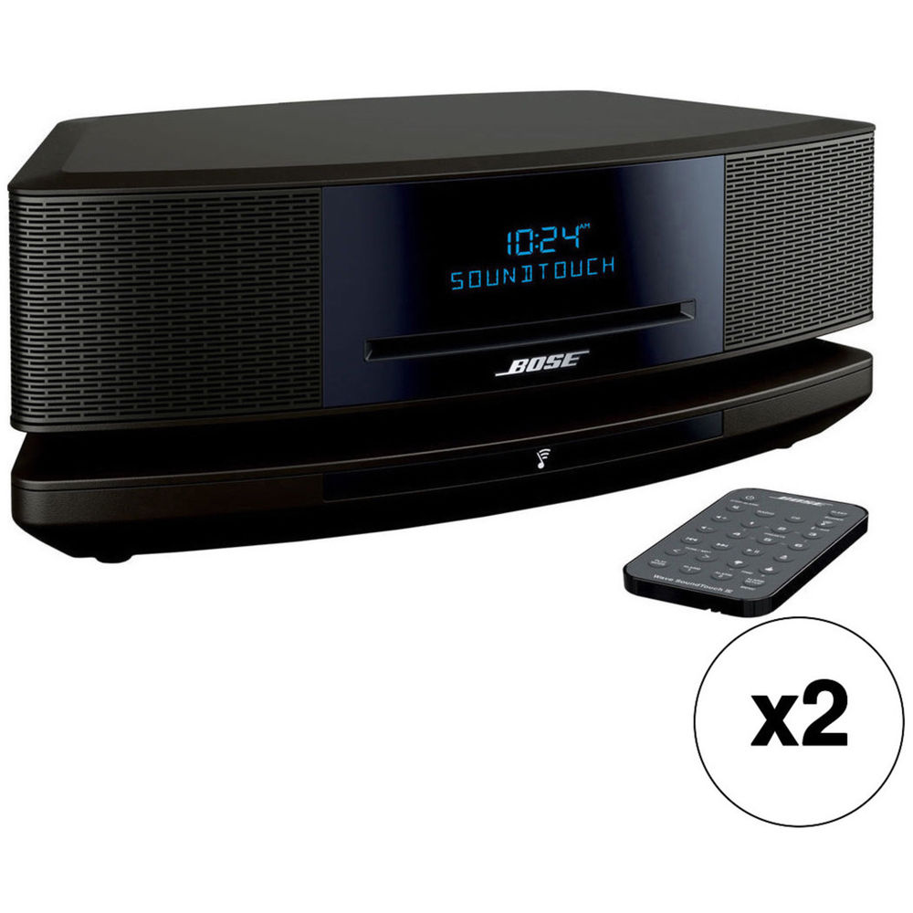 bose wave soundtouch music system pair kit espresso black b h. Black Bedroom Furniture Sets. Home Design Ideas