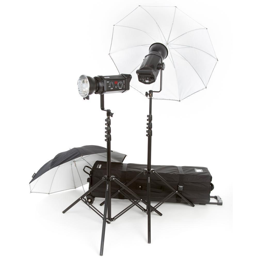 Bowens Esprit 500 Studio Lighting Kit: Bowens Gemini 500R 2-Light 2-Umbrella Kit (230VAC) BW-4805EURO