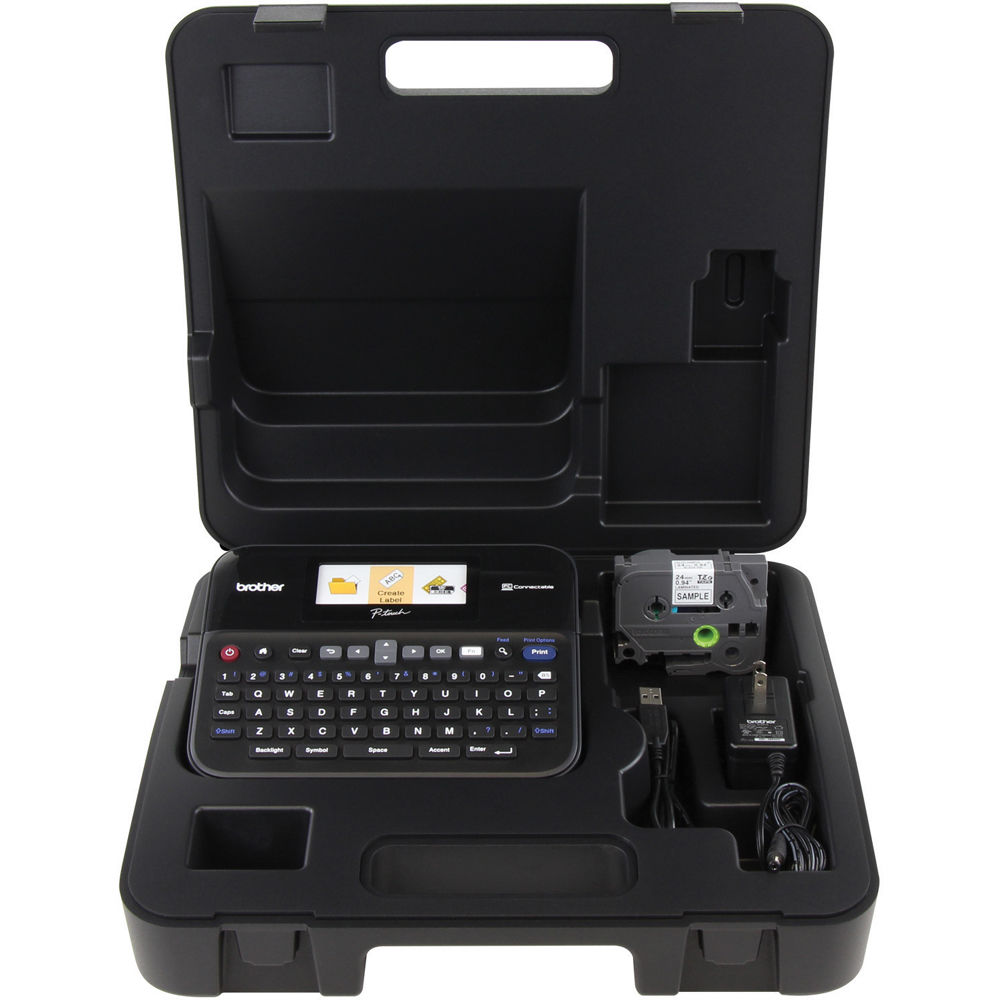Color printing label maker - Brother Pt D600 Pc Connectable Label Printer With Hard Carrying Case