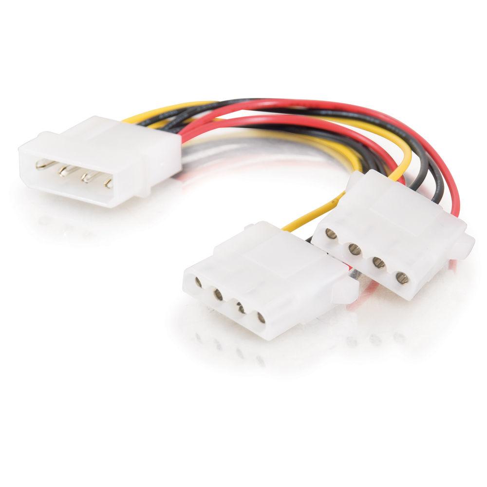 C2G 4-pin Molex (LP4) Male to Two 4-pin Molex (LP4) Female ...  C2G 4-pin Molex...