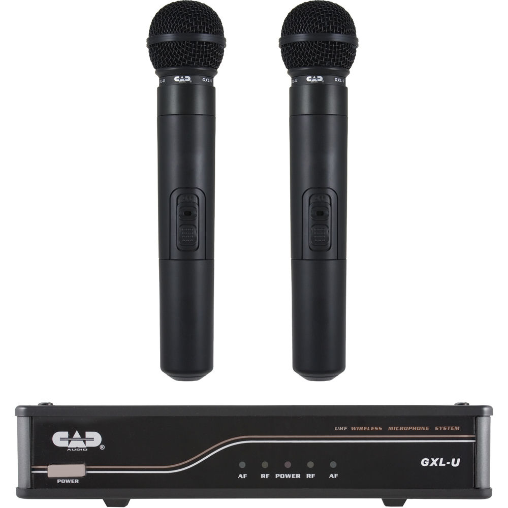 cad uhf dual channel handheld wireless microphone system. Black Bedroom Furniture Sets. Home Design Ideas