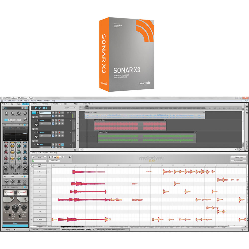 Cakewalk sonar x3e for windows 7/vista/xp.