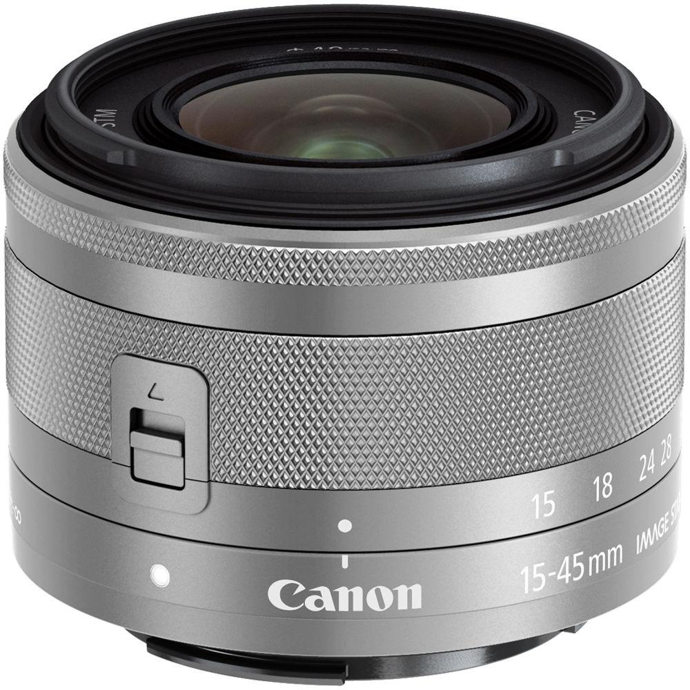 Canon Ef M 15 45mm F 35 63 Is Stm Lens Silver 0597c002 Bh Eos M10 Kit 45 10