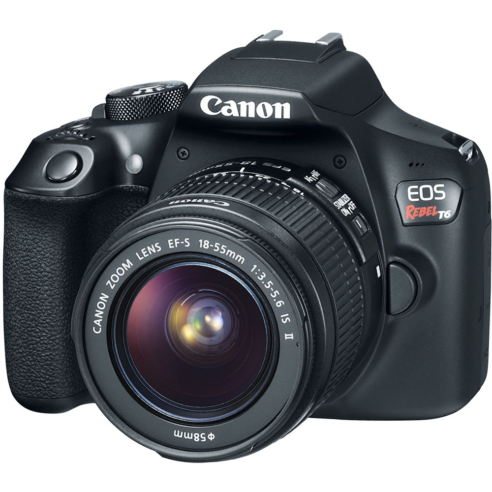 canon rebel t6 eos dslr camera with 18 55mm lens 1159c003 b h rh bhphotovideo com Canon EOS Rebel T6i Canon EOS Rebel T3