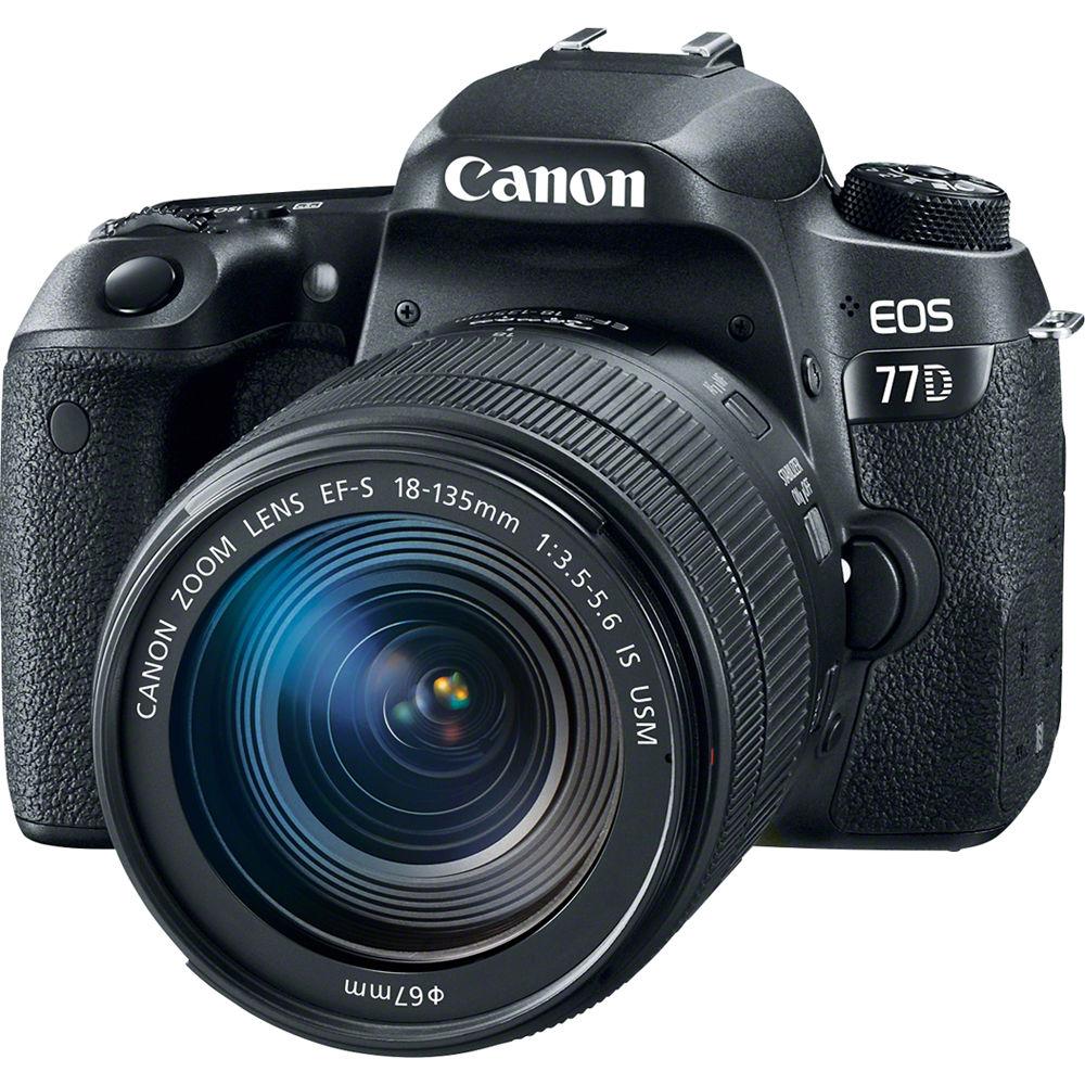 Canon EOS 77D DSLR Camera With 18 135mm USM Lens 1892C002 BampH