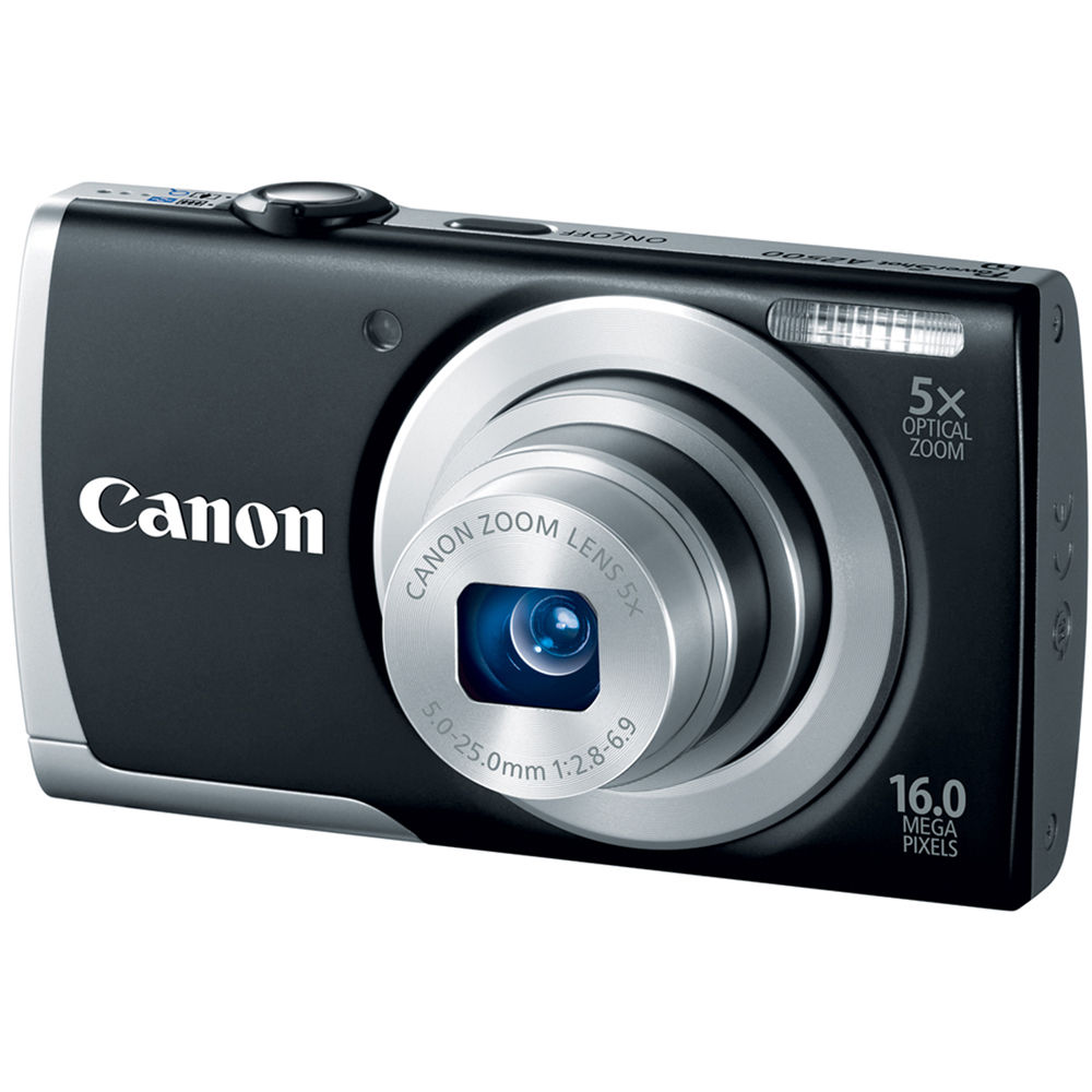 Canon PowerShot A2500 Digital Camera (Black) 8253B001 B&H ...