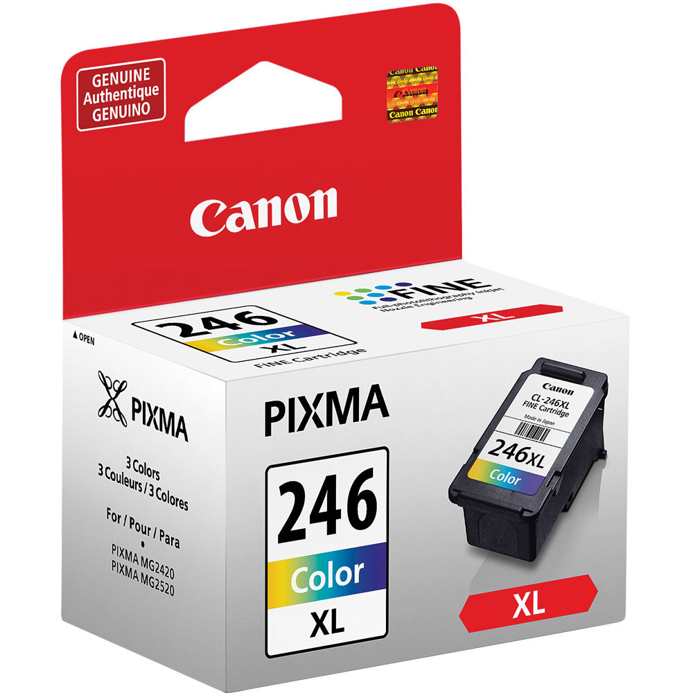 Canon Cl 246 Xl High Capacity Color Ink Cartridge 8280b001 B Amp H
