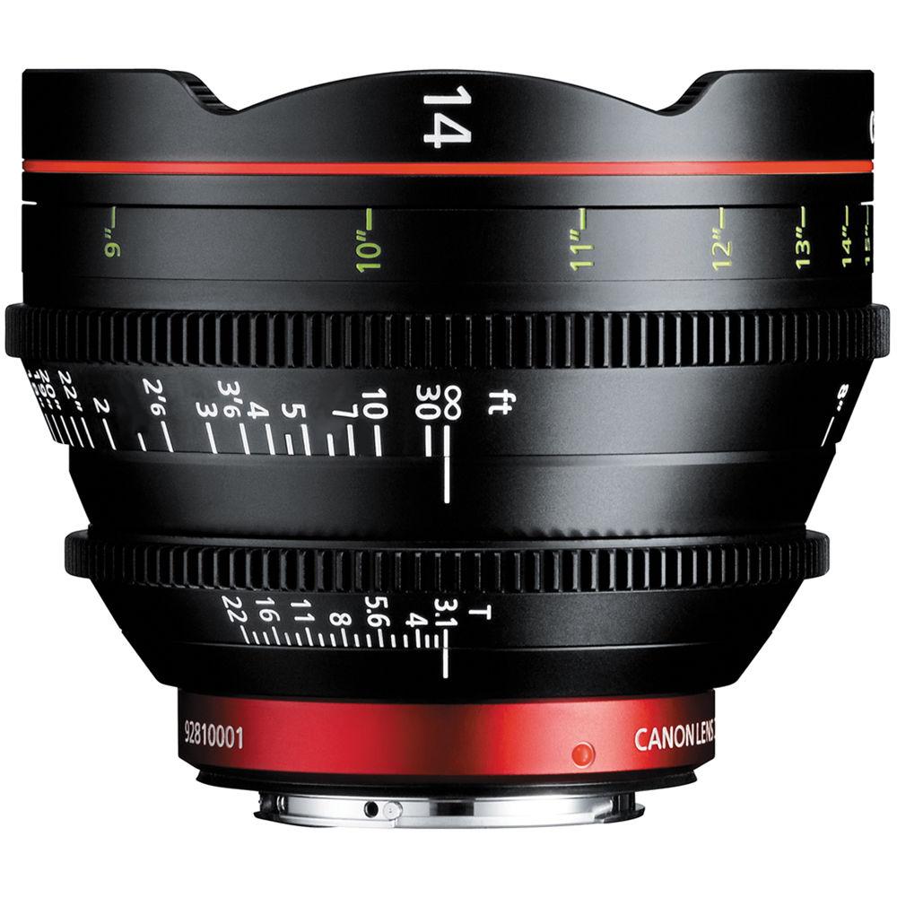 Canon Cn E 14mm T3 1 L F Cinema Prime Lens Ef Mount 8325b001