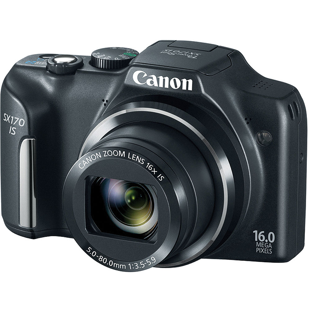 Power Shot SX170 IS Point-and-Shoot Camera (Black)