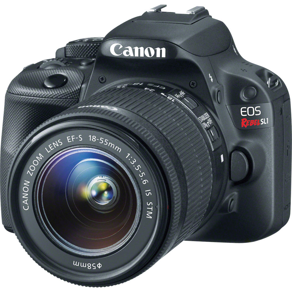 Canon EOS Rebel SL1 DSLR Camera With 18 55mm Lens 8575B003 BampH