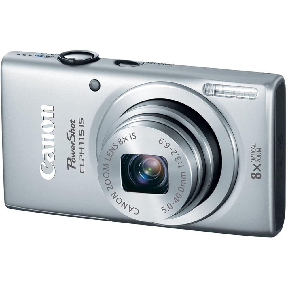 Canon Powershot Elph 115 Is Digital Camera Silver