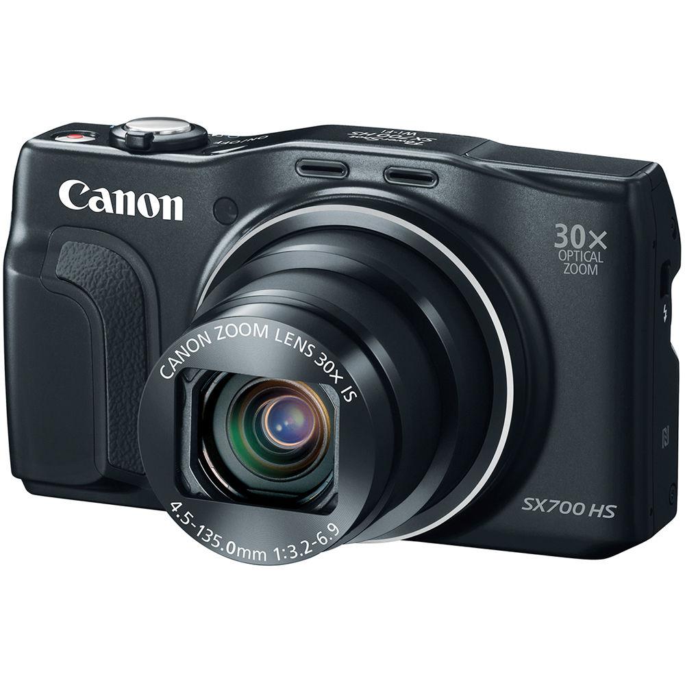 Canon PowerShot SX700 HS Digital Camera (Black) 9338B001 B&H