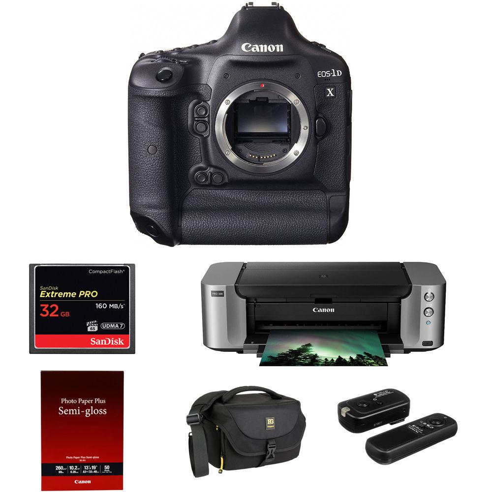 Camera Canon Professional Dslr Cameras canon eos 1d x dslr camera with pixma pro 100 printer kit bh kit
