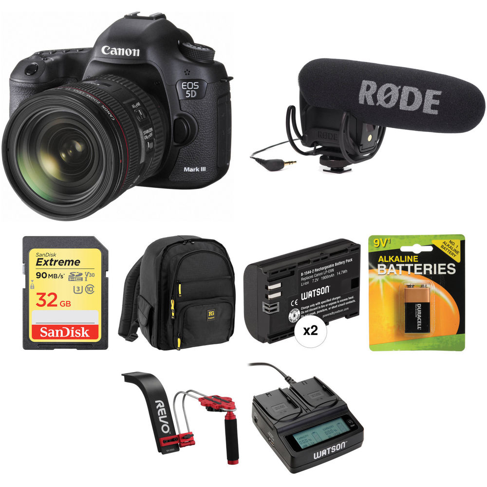 Canon EOS 5D Mark III DSLR Camera with 24-70mm f/4L IS ...