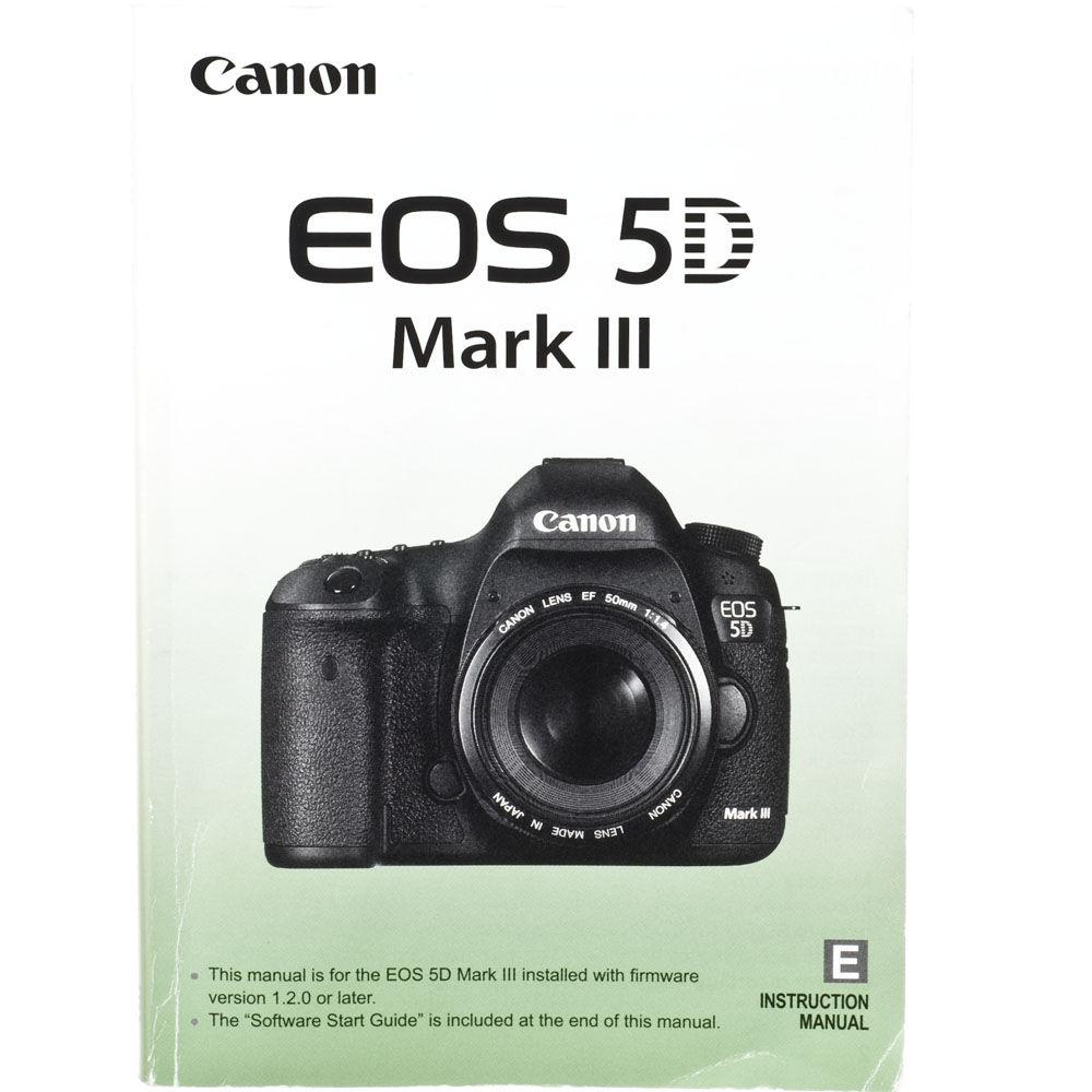 Used Canon EOS 5D Mark III Digital Camera Instruction Book B