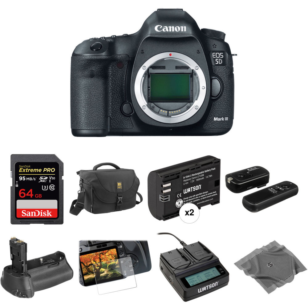 Canon eos 5d mark iii dslr camera body deluxe kit b&h photo