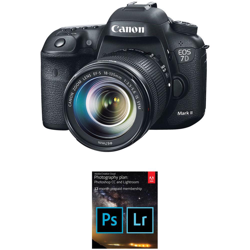 canon eos 7d mark ii dslr camera with 18 135mm f 3 5 5 6. Black Bedroom Furniture Sets. Home Design Ideas