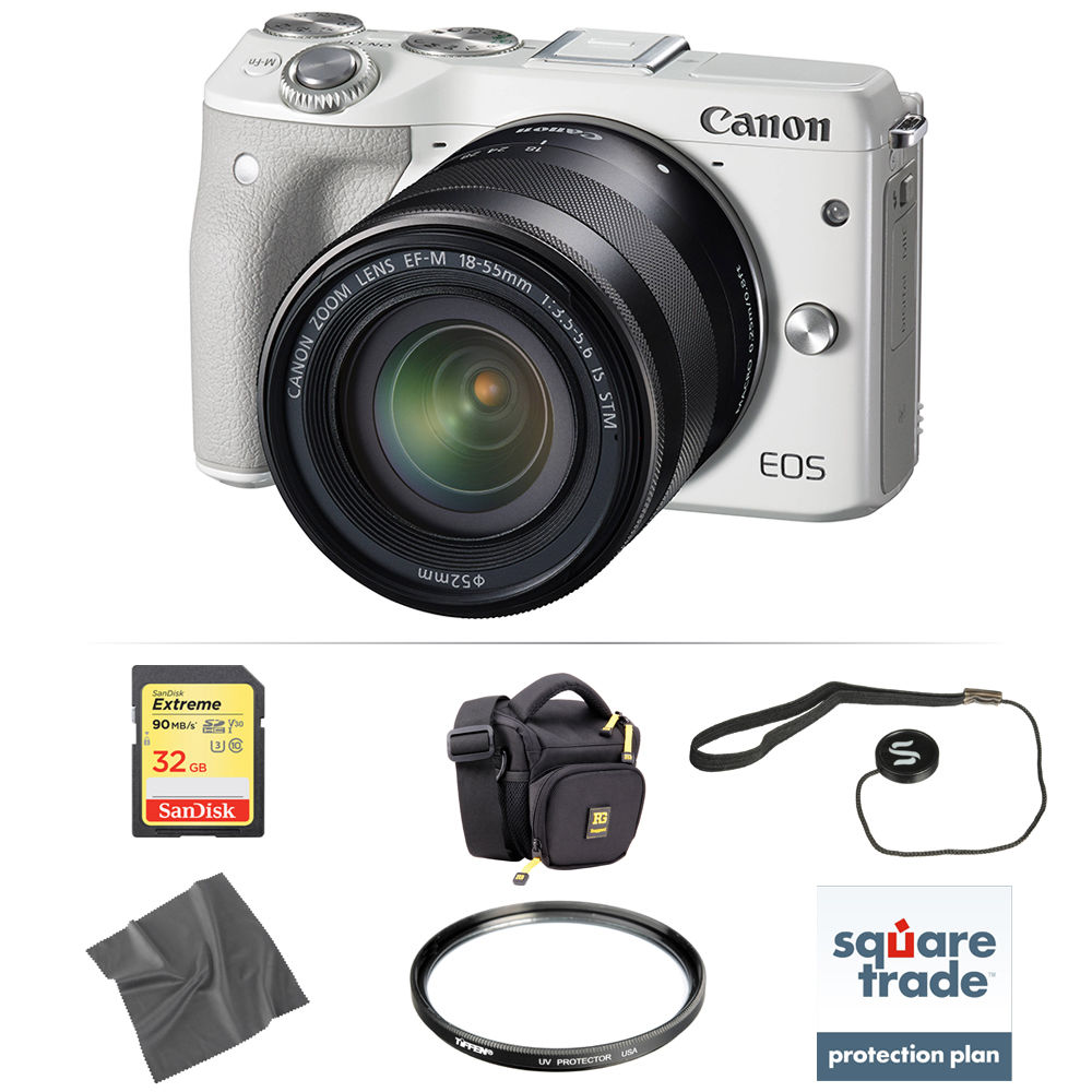 canon eos m3 mirrorless digital camera with 18 55mm lens. Black Bedroom Furniture Sets. Home Design Ideas