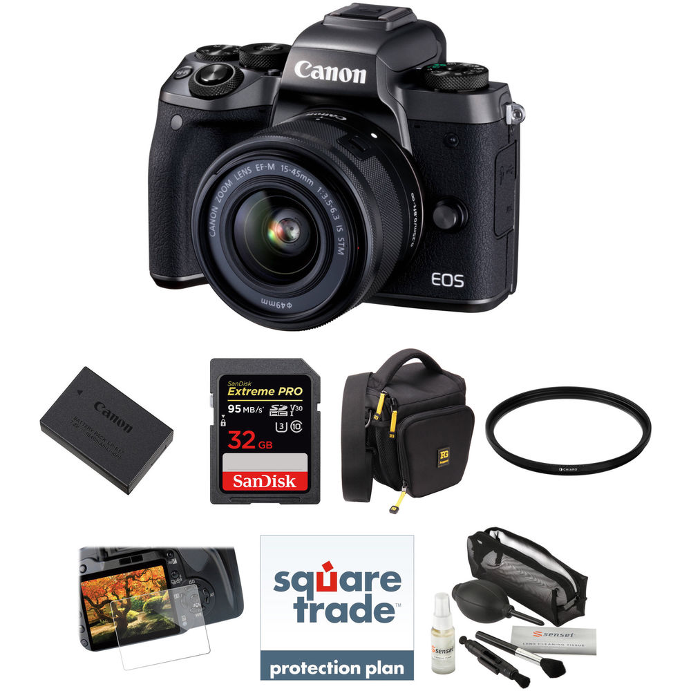 Canon eos m5 mirrorless digital camera with 15 45mm lens for M5s camera