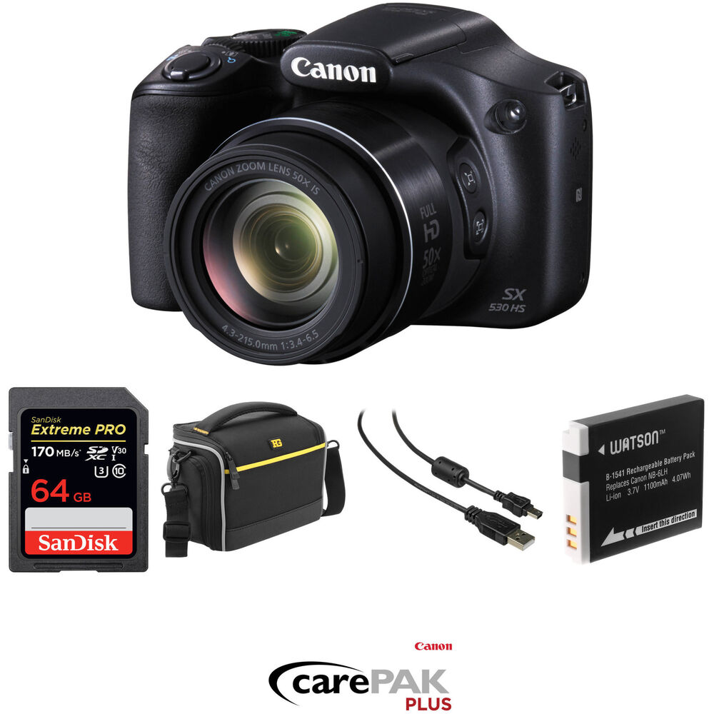 canon powershot sx530 hs digital camera deluxe kit b h photo Canon PowerShot SX Canon PowerShot SX500 IS