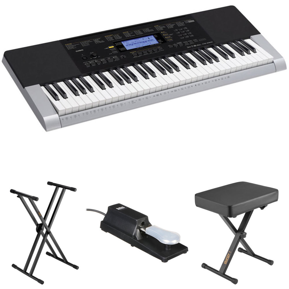 Casio Keyboard With Stand : casio ctk 4400 kit with stand pedal and bench b h photo video ~ Hamham.info Haus und Dekorationen