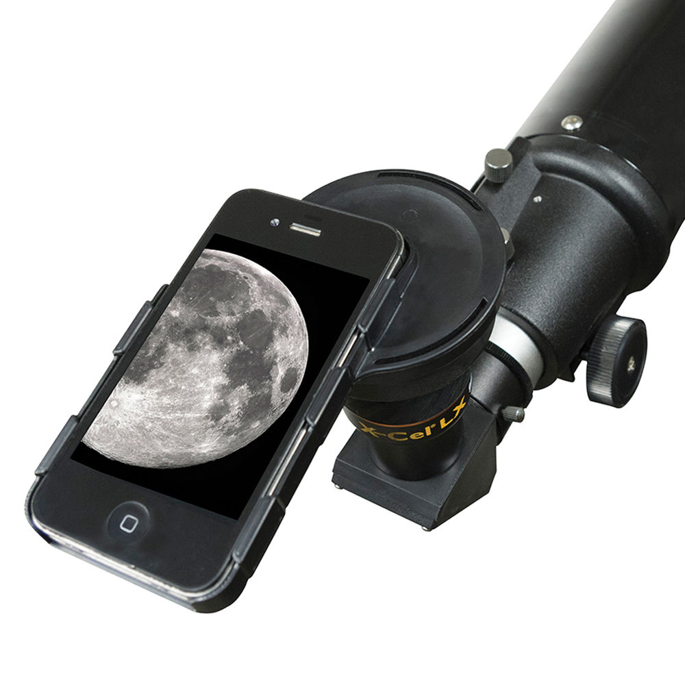 celestron iphone 4 4s astrophotography adapter for x cel 93677. Black Bedroom Furniture Sets. Home Design Ideas