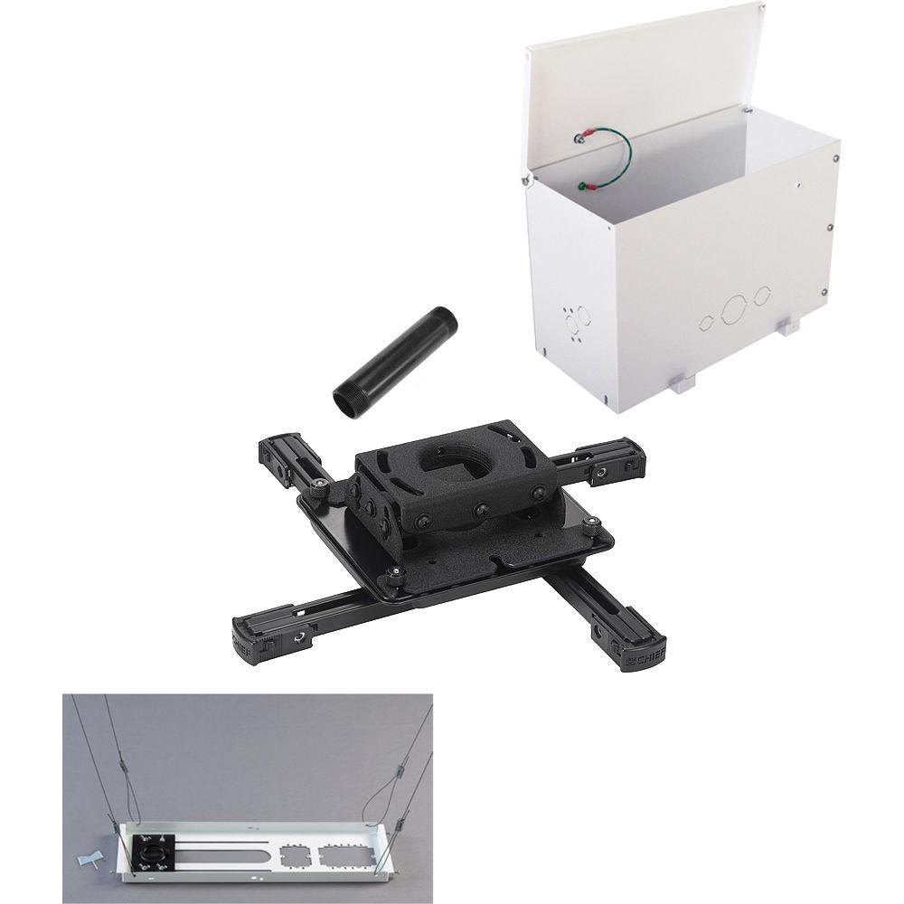Chief Kitps006pb Universal Projector Mount Kit Black