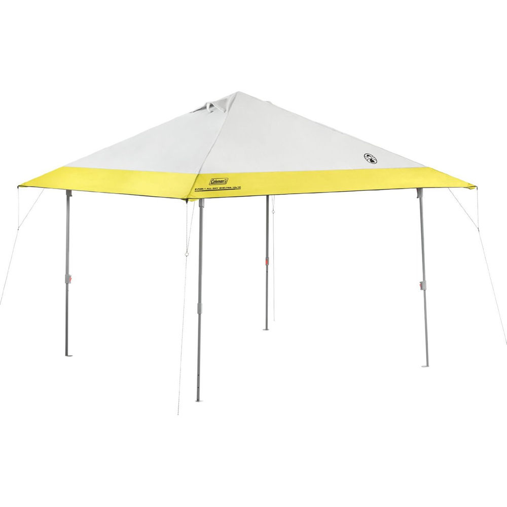 Coleman Instant Canopy 10x10 Tan : Coleman instant canopy eaved  b h photo