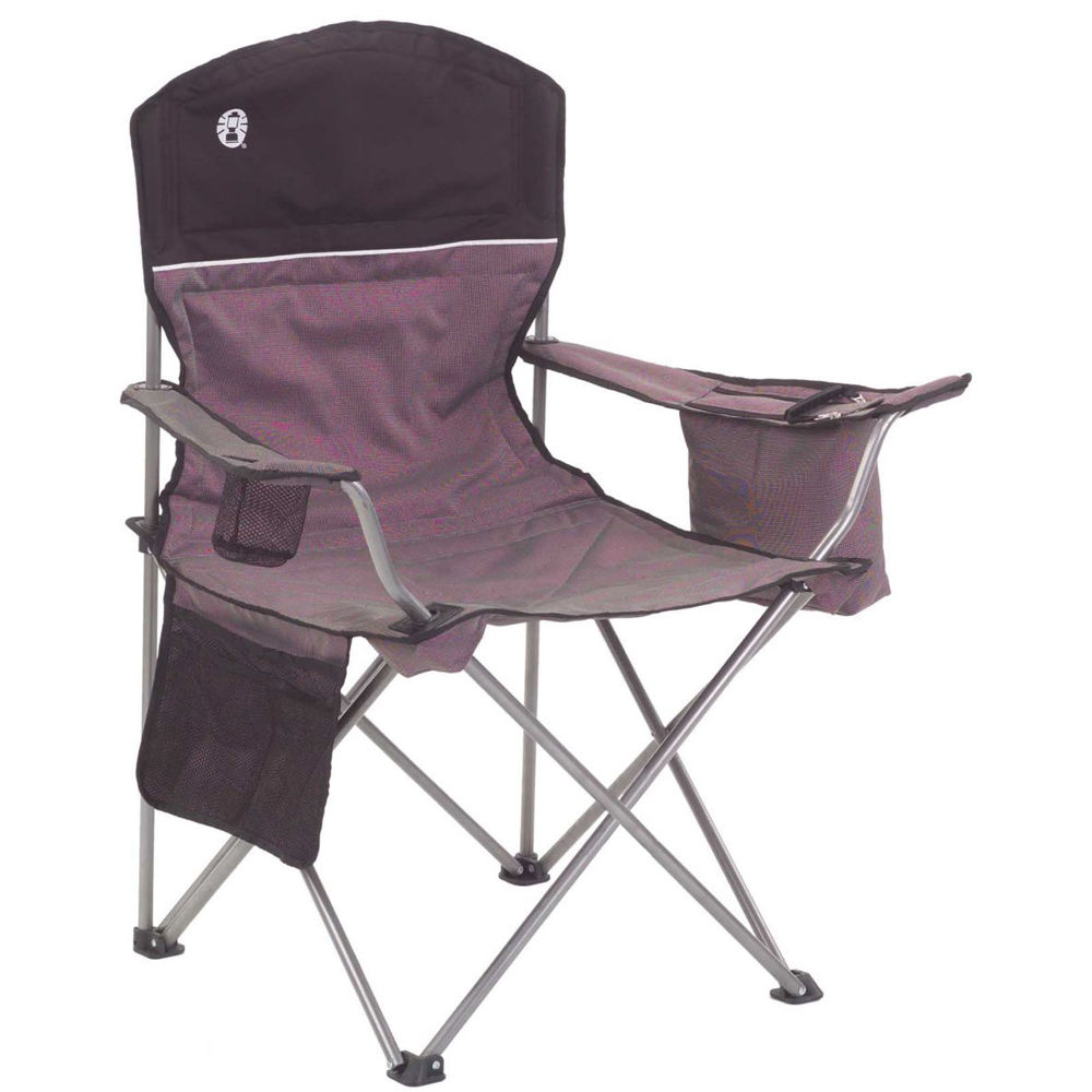 Coleman Oversized Quad Chair With Cooler Black Gray