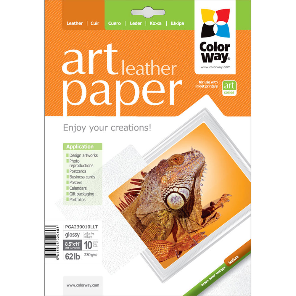 Colorway Art Glossy Leather Textured Photo Paper Pga230010llt
