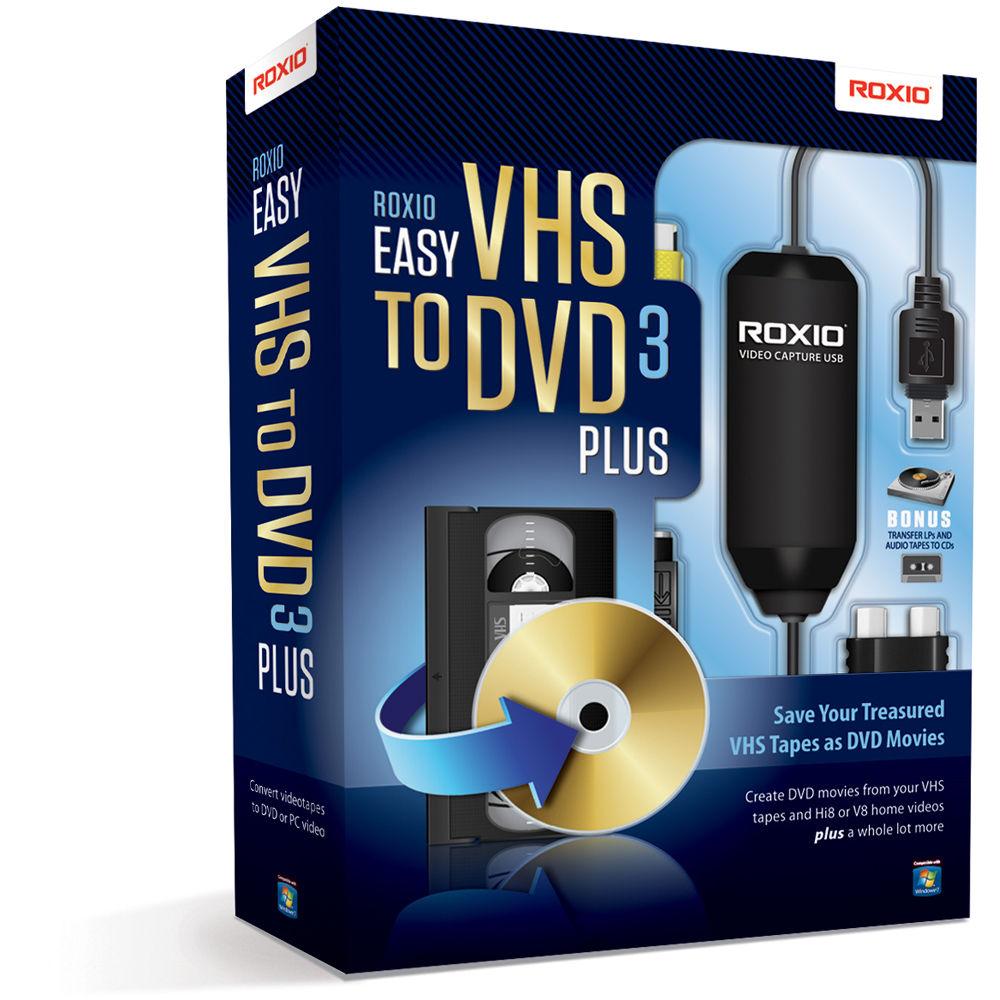 roxio vhs dvd  Roxio Easy VHS to DVD 3 Plus 251000 B&H Photo Video