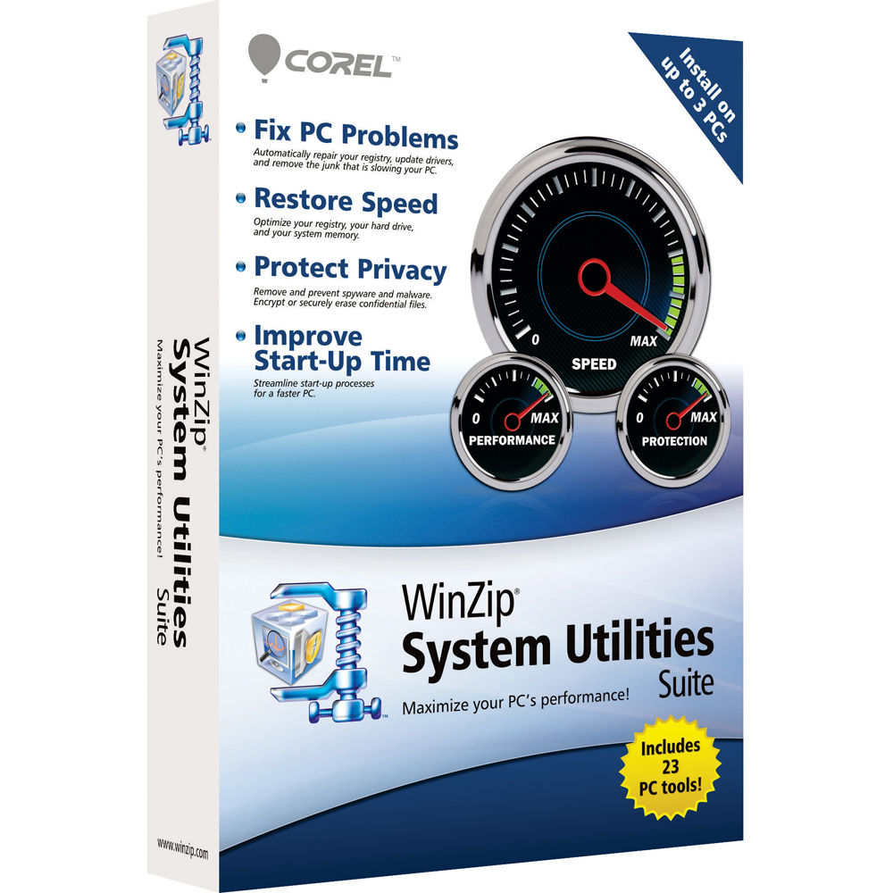 Corel winzip system utilities suite 3 users