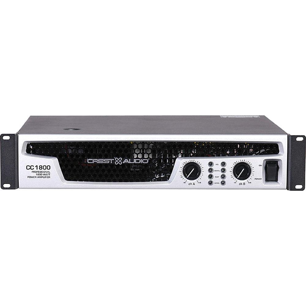 Crest Audio Cc 1800 Power Amplifier 2ru 01000800 Bh Photo Sra18002 1800w 2 Channel Car Amp 4 Gauge Wiring Kit