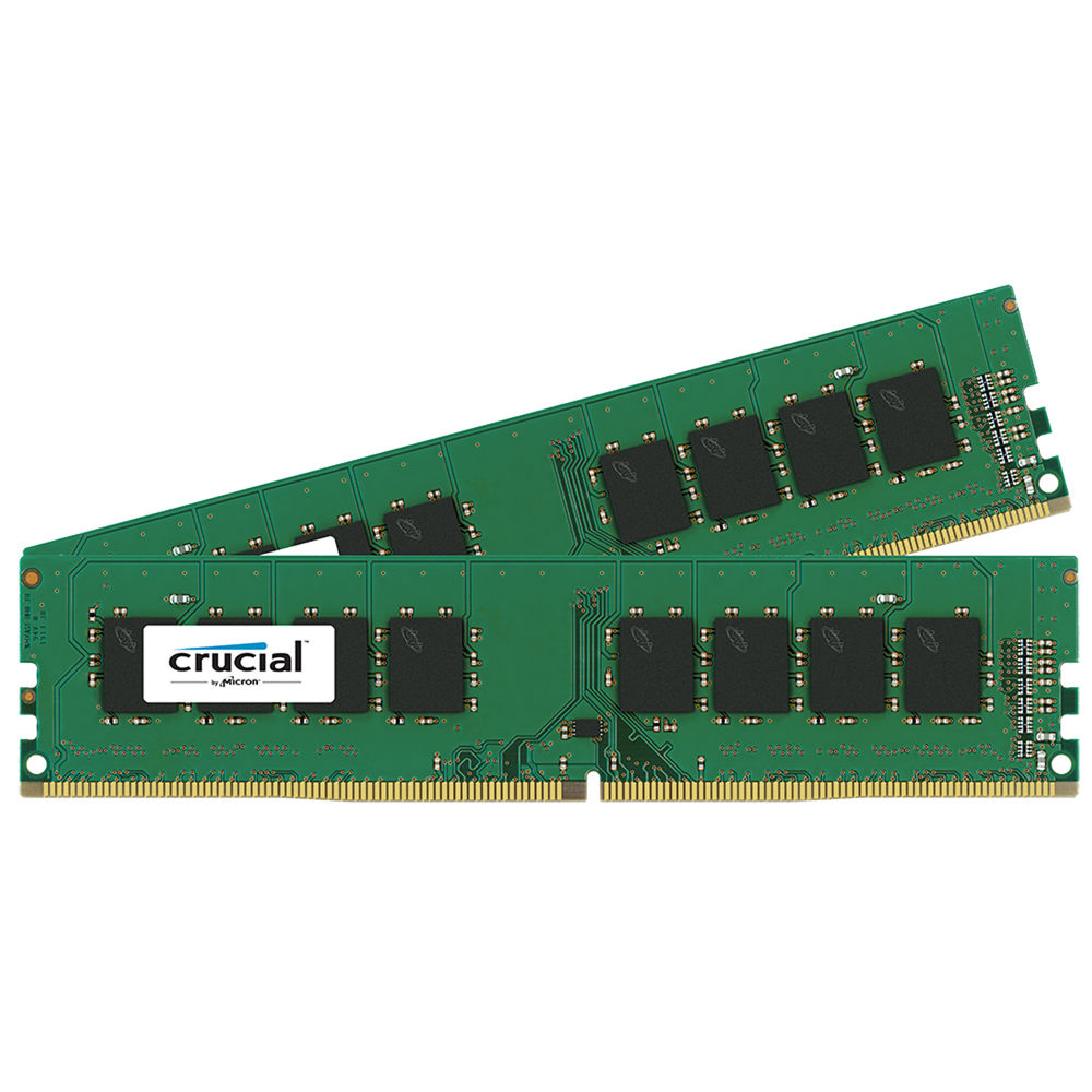 crucial 16gb ddr4 2133 mhz udimm memory kit ct2k8g4dfd8213 b h. Black Bedroom Furniture Sets. Home Design Ideas