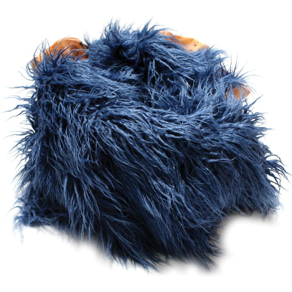 Custom Photo Props Faux Flokati Fur Newborn Prop Apollo Blue 36 X 62