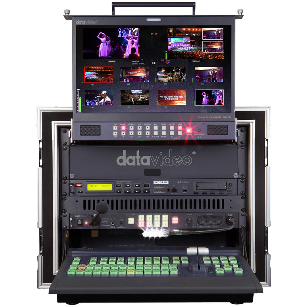 Datavideo ms 2800a 8 channel hd sd mobile video studio ms for Mobile studio