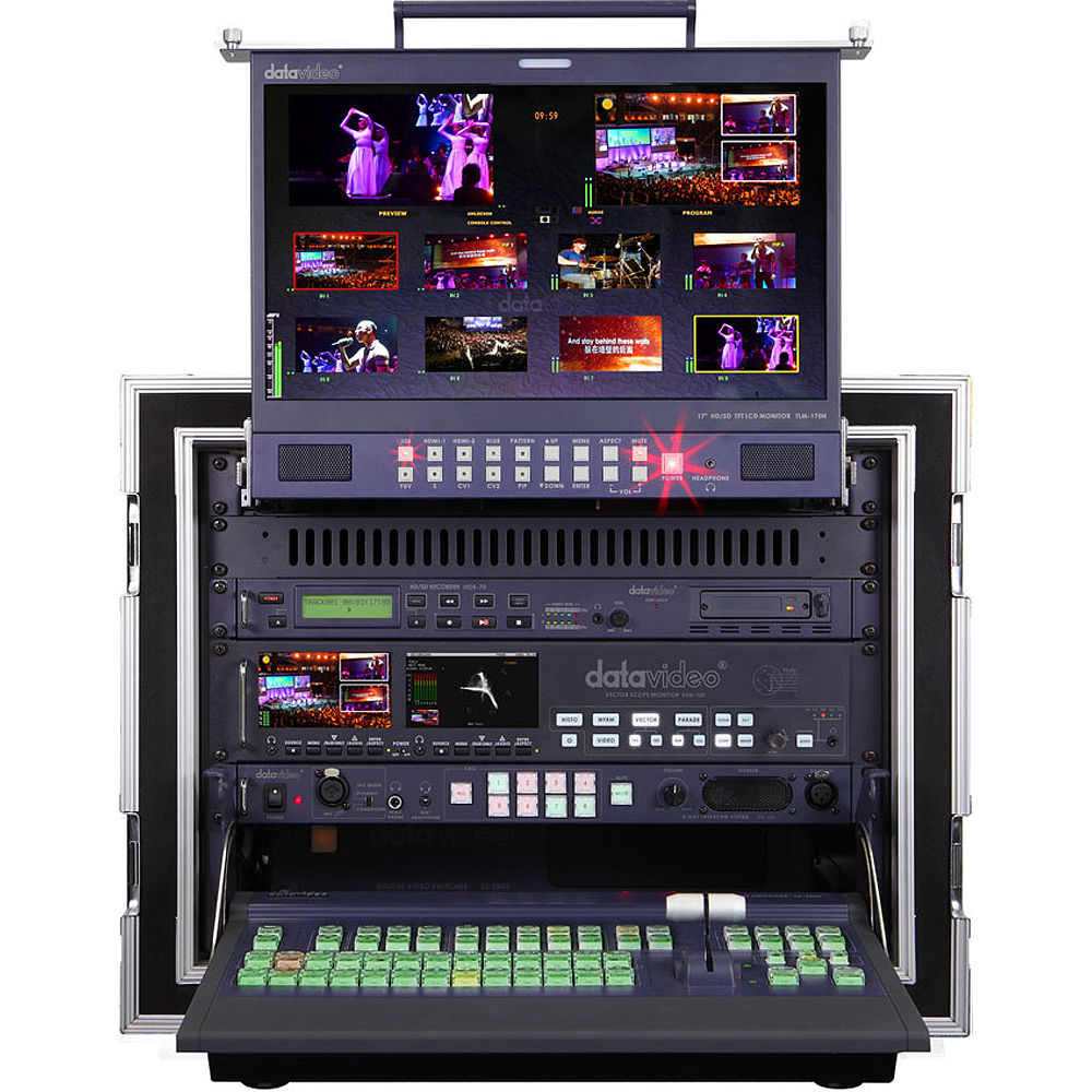 Datavideo ms 2800b 8 channel hd sd mobile video studio ms for Mobile studio