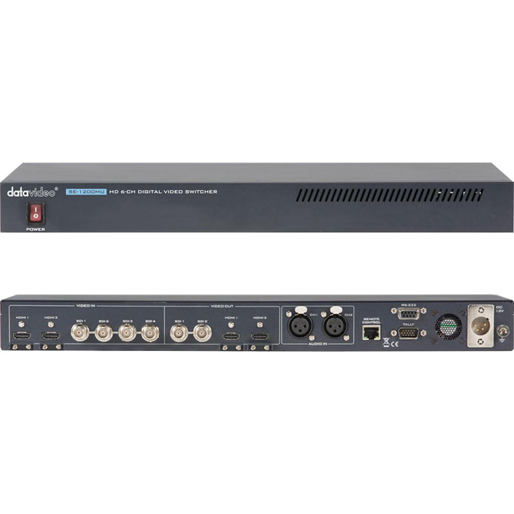 Datavideo se 1200mu 6 input hd digital video switcher se Hd video hd video hd video hd video