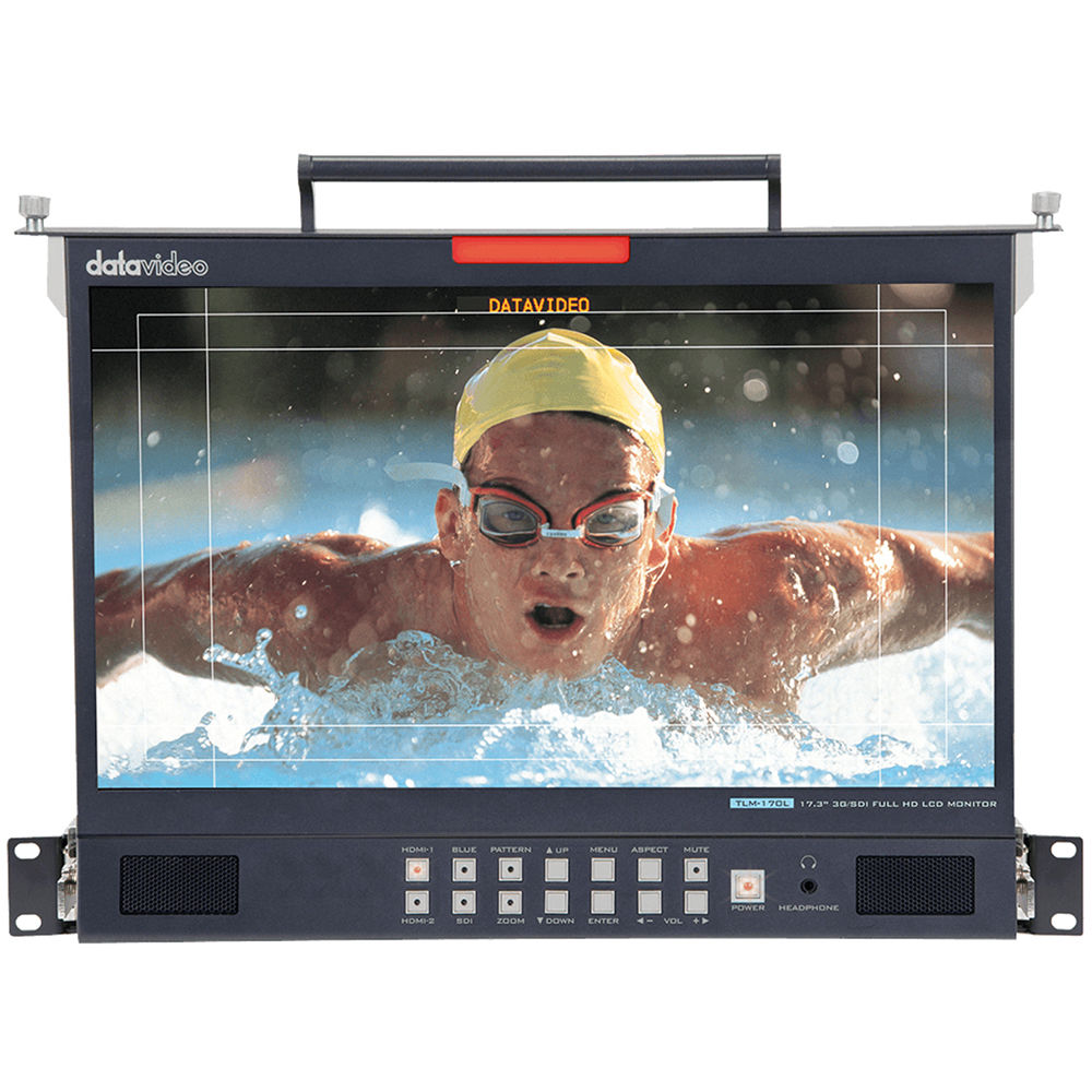 Datavideo 173 3g Sdi Full Hd Rackmount Lcd Tlm 170lm Bh Rbvhda8 Sdsdi 1 Input 8 Output Video Distribution Amplifier Monitor